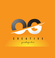 og o g letter modern logo design with yellow vector image vector image