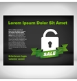 Opened lock leaflet vector image vector image