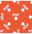 Orange PDF download pattern vector image vector image