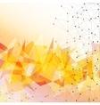 Orange triangle design background vector image