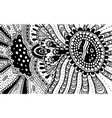 ornament doodle pattern for coloring book vector image vector image