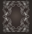Ornate Frame On Brown vector image