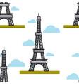 paris architecture eiffel tower france symbol vector image vector image