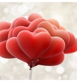 Red love balloons EPS 10 vector image vector image