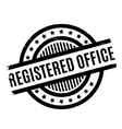 Registered Office rubber stamp vector image