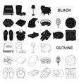 rest and sleep black icons in set collection for vector image