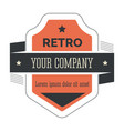 retro corporate identity isolated vintage icon vector image vector image
