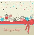 Romantic card vector image vector image