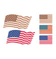 set american flags vector image vector image