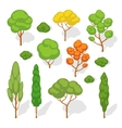 Set of the trees vector image