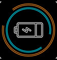 simple battery thin line icon vector image