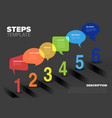six steps template with bubbles and numbers vector image vector image