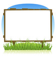 summer or spring country wood billboard vector image vector image