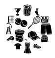 tennis icons set simple style vector image vector image
