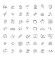 thin lines web icons set - e-commerce shopping vector image