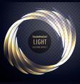 transparent shiny light effect swirl background vector image