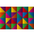 triangles with color gradient anstract background vector image vector image