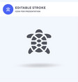 turtle icon filled flat sign solid vector image vector image