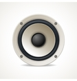 Vintage White Audio Speaker vector image vector image
