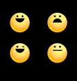 volume set of smileys vector image vector image