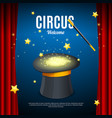 welcome to circus poster card template vector image vector image