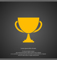 winner cup icon simple victory element champion vector image vector image