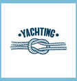 yachting badge with rope vector image vector image