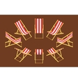 Isometric deck chair vector image