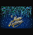 concept party on dark blue background top view vector image