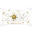 2018 happy new year white background with vector image vector image