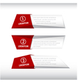 3D box banner red and grey 002 vector image vector image