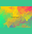 abstract low poly background with warm colors vector image