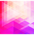 Abstract neon colorful triangle pattern background vector image