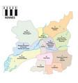 administrative map breton capital rennes france vector image vector image