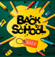 back to school sale poster and banner with vector image