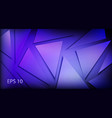 background made dark purple triangles vector image vector image