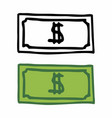 banknotes vector image