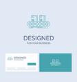 belt box conveyor factory line business logo line vector image vector image