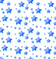 Blue stars background seamless vector image vector image