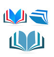 book learning icon vector image vector image