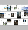 brochure layout square covers design templates vector image vector image