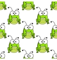 Cartoon green grasshopper character seamless vector image