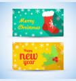 celebrating festive horizontal banners vector image vector image