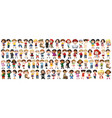 children with different nationalities on white vector image vector image