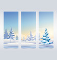 christmas vertical banners vector image