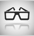 cinema glasses black flat icon with shadow and vector image