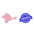 collage of gradiented dotted map of crimea and vector image vector image