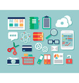 Collection of flat design icons computer and vector image vector image