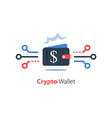 crypto wallet finance technology online payment vector image