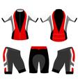 Cycling clothing vector image